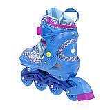 Роликовые коньки Nils Extreme синие Size 30-33 NJ4613A SKL41-227308, фото 2