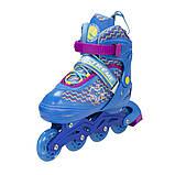 Роликовые коньки Nils Extreme синие Size 30-33 NJ4613A SKL41-227308, фото 4