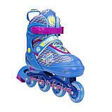 Роликовые коньки Nils Extreme синие Size 30-33 NJ4613A SKL41-227308, фото 5