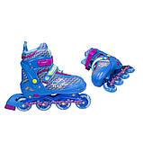 Роликовые коньки Nils Extreme синие Size 30-33 NJ4613A SKL41-227308, фото 7