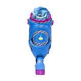 Роликовые коньки Nils Extreme синие Size 30-33 NJ4613A SKL41-227308, фото 10