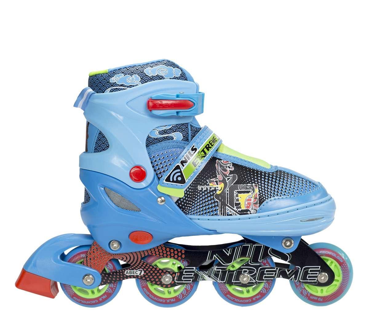 Роликовые коньки Nils Extreme синие Size 34-37 NJ4605A SKL41-227320