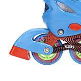 Роликовые коньки Nils Extreme синие Size 34-37 NJ4605A SKL41-227320, фото 4