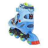Роликовые коньки Nils Extreme синие Size 34-37 NJ4605A SKL41-227320, фото 6