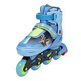 Роликовые коньки Nils Extreme синие Size 34-37 NJ4605A SKL41-227320, фото 10