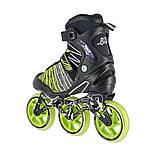 Роликовые коньки Nils Extreme черно-зеленые Size 40 NA1206 SKL41-227576, фото 2