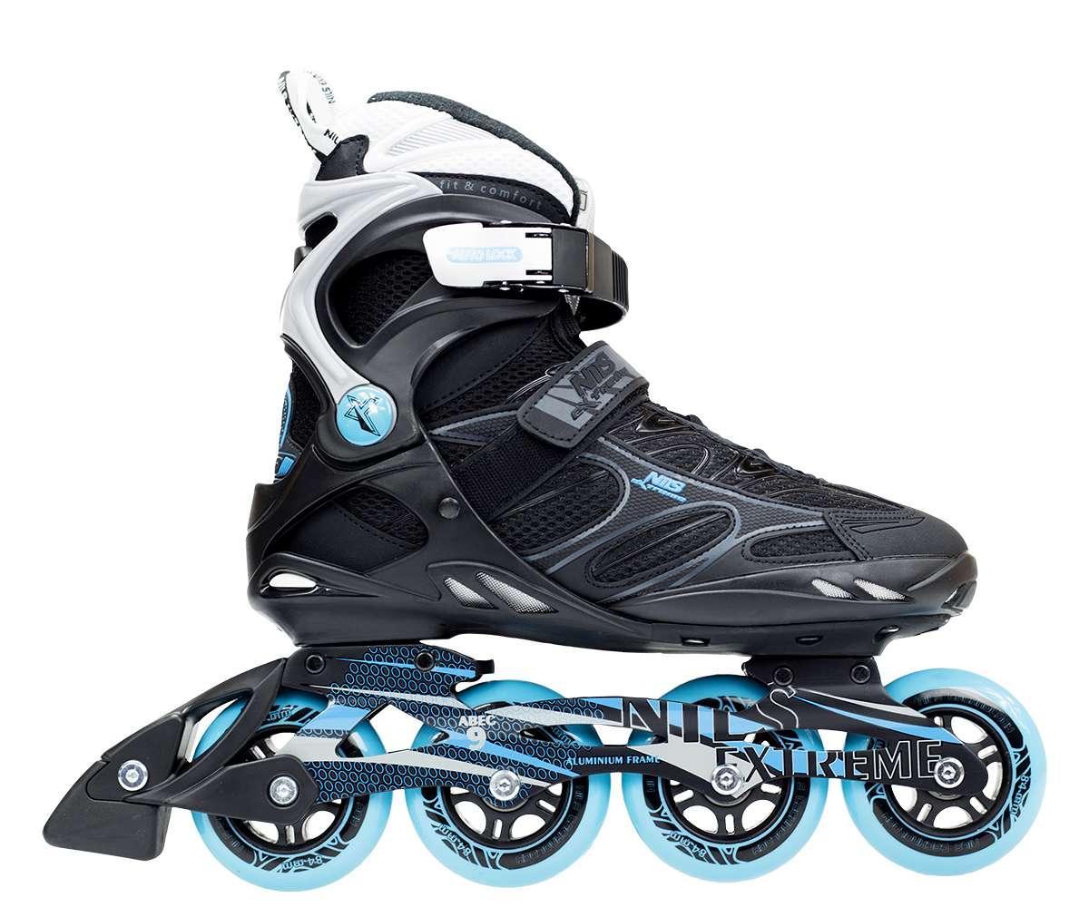 Роликовые коньки Nils Extreme черно-синие Size 37 NA5003S SKL41-227344