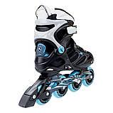 Роликовые коньки Nils Extreme черно-синие Size 37 NA5003S SKL41-227344, фото 2