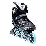 Роликовые коньки Nils Extreme черно-синие Size 37 NA5003S SKL41-227344, фото 4