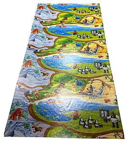 """Ігровий килимок дитячий """"Мадагаскар"""" розмір 2500х1200х12мм. Килимок розвиваючий дитячий"""
