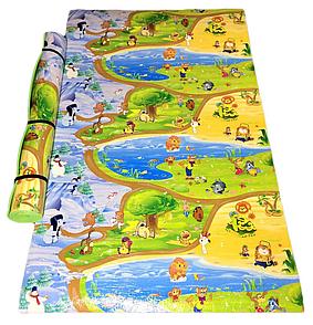 Дитячий розвиваючий килимок (2500х1200х8мм) «Союз мультфільм», теплоізоляційний ігровий килимок для дітей