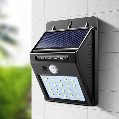 Вуличний ліхтар з датчиком руху і сонячною батареєю 1200mAh (20 LED)