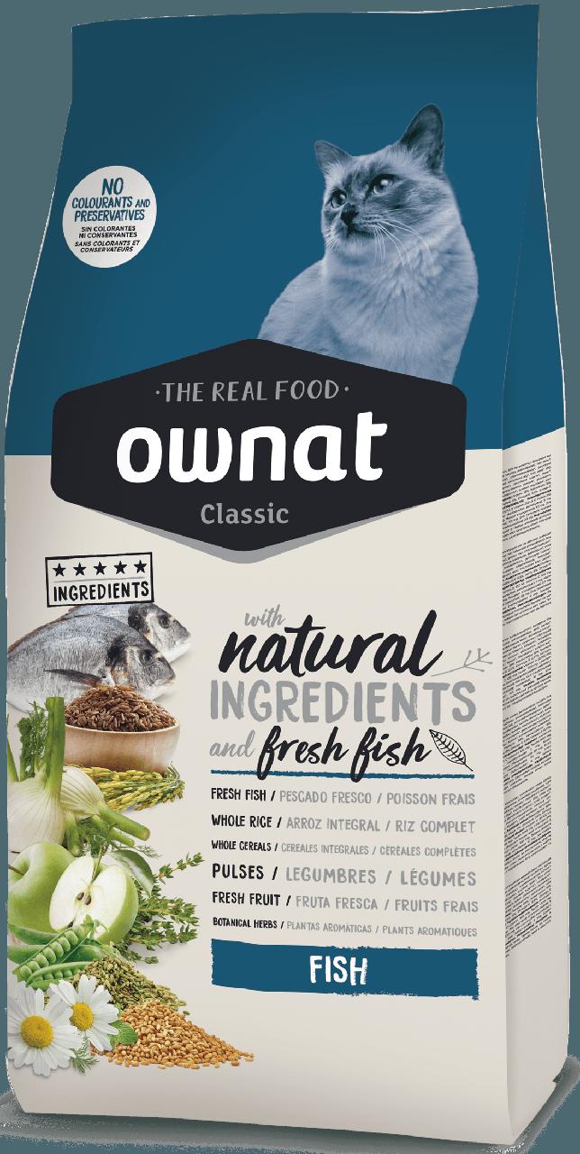 Овнат Фіш Ownat Fish збалансований сухий корм для котів з рибою, 1,5 кг