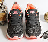 0400 Кроссовки Nike серого цвета с белой подошвой. 41 размер - 25 см по стельке, фото 3