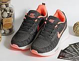 0400 Кроссовки Nike серого цвета с белой подошвой. 41 размер - 25 см по стельке, фото 5