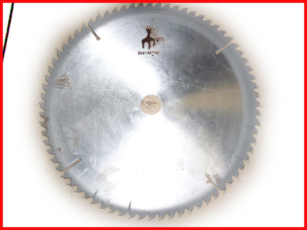 Диск пильный. 350х32х72. Пильный диск по дереву. Циркулярка. Дисковая пила. 2,5
