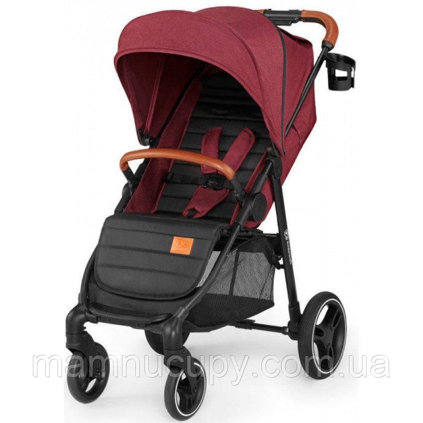 Дитяча прогулянкова коляска Kinderkraft Grande LX Burgundy (Киндеркрафт)
