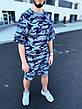 Мужской летний оверсайз комплект футболка+шорты ABC Oversize 9 цветов в наличии, фото 4