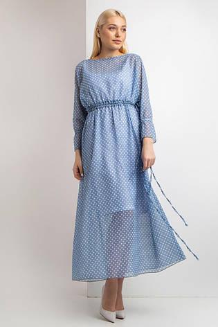 Платье Garne ENTONY в белый горох 3XL Голубой (3035099-5), фото 2