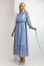 Платье Garne ENTONY в белый горох 3XL Голубой (3035099-5), фото 3