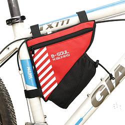 Сумка для велосипеда B-Soul X-13 (18х20 см) Red