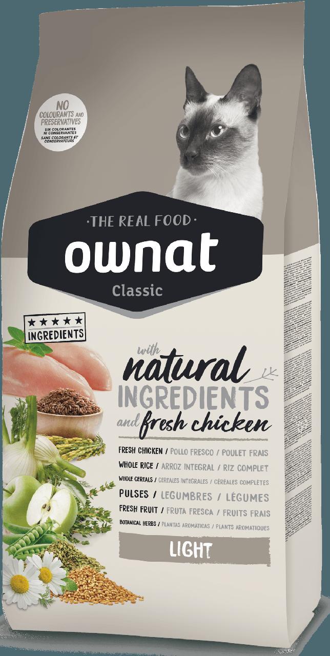 Овнат Ownat Light збалансований сухий корм для кішок Низькокалорійний, 1,5 кг