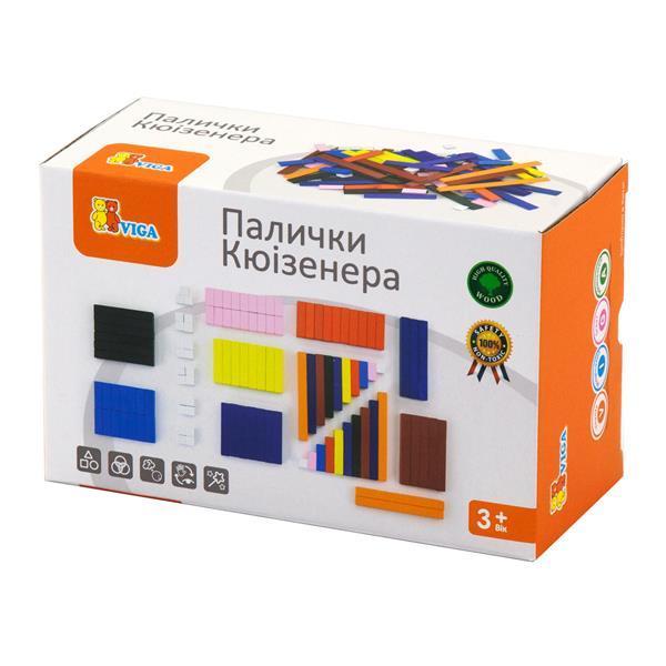 Навчальний набір Viga Toys Рахункові палички Кюізенера, 116 шт. (51765)