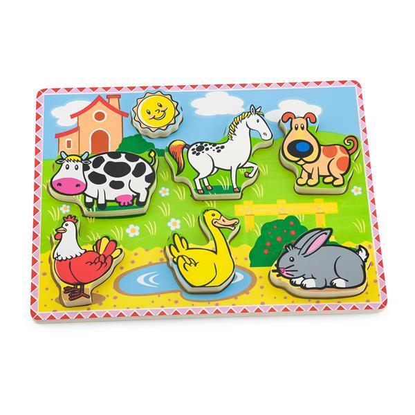 Деревянная рамка-вкладыш Viga Toys Зверята на ферме (56438)