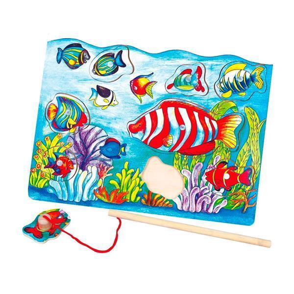 Деревянная рамка-вкладыш Viga Toys Магнитная рыбалка (58423)