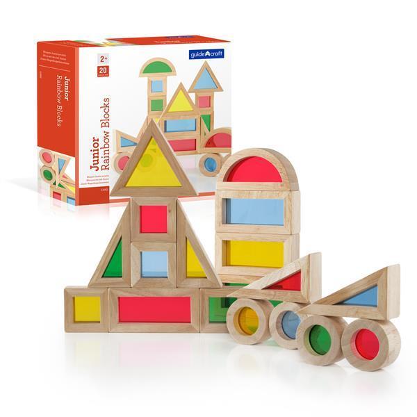 Набор уменьшенных блоков Guidecraft Block Play Маленькая радуга, 20 шт. (G3082)