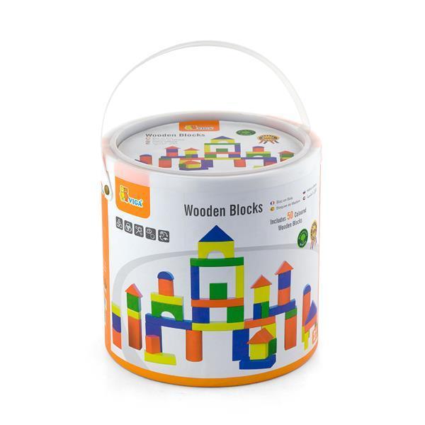 Деревянные кубики Viga Toys Красочные блоки 50 шт., 3,5 см (59542)