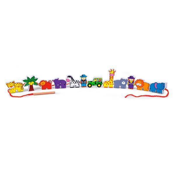 Деревянная шнуровка Viga Toys Зоопарк (59549)