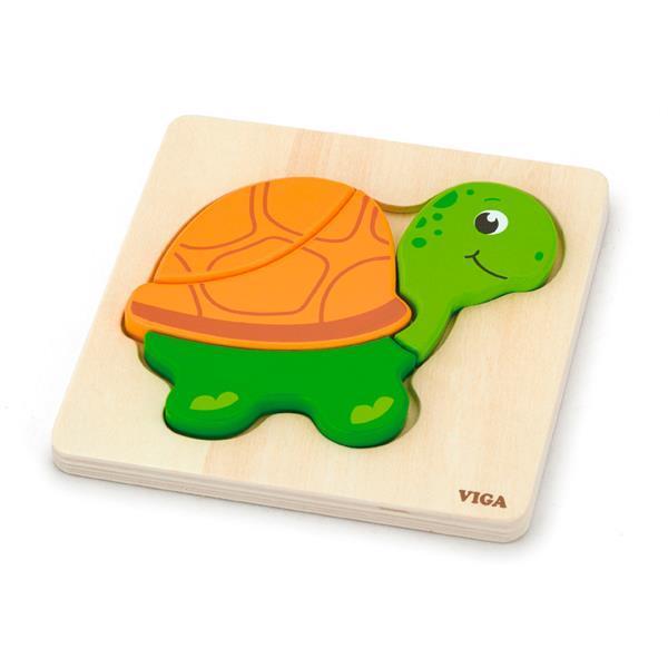 Деревянный мини-пазл Viga Toys Черепаха (59933)