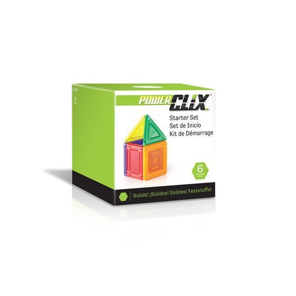 Магнитный конструктор Guidecraft PowerClix Solids Базовый набор, 6 деталей (G9481)