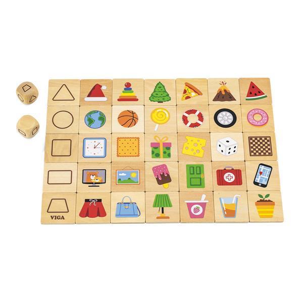 Дерев'яний пазл-гра Viga Toys Вивчаємо форми (44506)