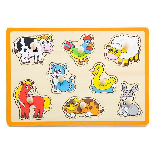Деревянная рамка-вкладыш Viga Toys Домашние животные (50017)