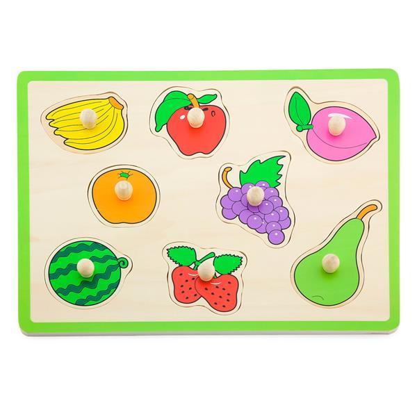 Дерев'яна рамка-вкладиш Viga Toys Кольорові фрукти (50020)