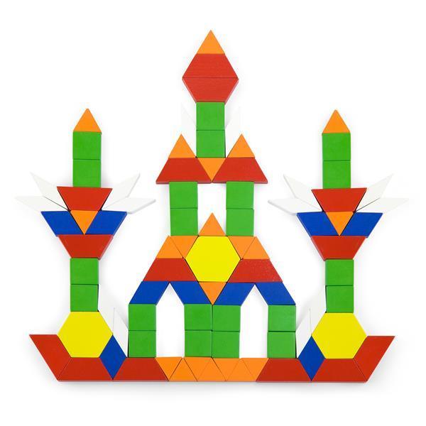 Деревянный игровой набор Viga Toys Цветная мозаика, 250 эл. (50065)