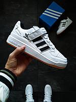Кроссовки мужские Adidas Forum Mid белые
