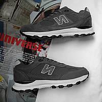 Кроссовки в стиле New Balance темно-серые