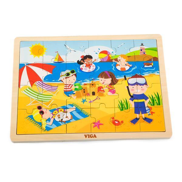 Деревянный пазл Viga Toys Времена года: лето, 24 эл. (51270)