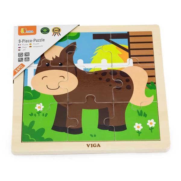 Деревянный пазл Viga Toys Лошадка, 9 эл. (51439)