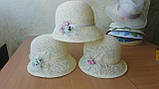 Женская  шляпа маленькие поля 6 см из рисовой соломки размер 55-59, фото 8
