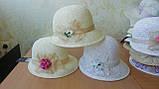 Женская  шляпа маленькие поля 6 см из рисовой соломки размер 55-59, фото 6