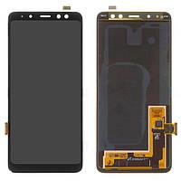 Дисплей для Samsung Galaxy A8 (2018) A530, модуль (экран и сенсор), черный, оригинал #GH97-21406A