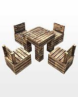 Набор садовой мебели ММТ Organic Loft стол и 4 стула, 002