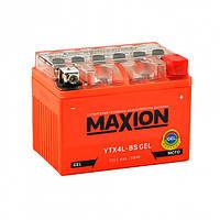 Аккумулятор мото MAXION YTX 4L-BS Gel (12V, 4A) 50A 113x70x85 мм