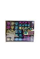 Набор новогодних украшений MELINERA 43 штуки Разноцветный (K10-110284)