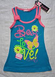 Детское летнее трикотажное платье Best Love бирюзовое (С`est la Vie, Венгрия)
