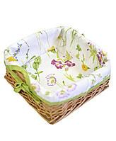 Хлібниця плетена з чохлом Living Весна 20х20 см SKL58-252134